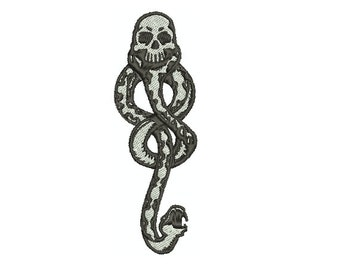 Machine Embroidery Design Instant Download - Harry Potter Death Eater Dark Mark