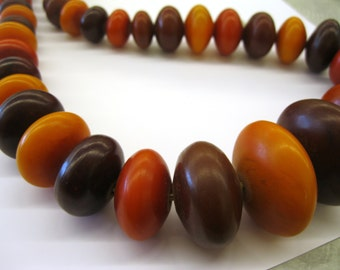 """SALE!!! African Trade Beads, Extra Long African """"AMBER"""" Strand"""