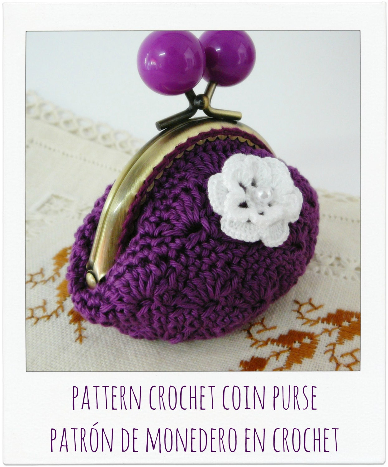 Coin Purse Crochet Pattern : All Bags & Purses