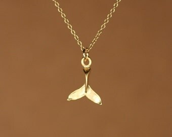 Whale Tail Necklace Etsy