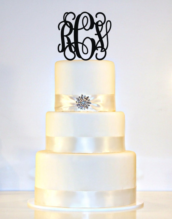Design Your Own Monogram Cake Topper : 5 Personalized Custom Wedding Monogram Cake Topper by ...