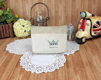 Cotton wallet coin pouch Change wallet purse simple cute - Crown