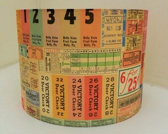 Vintage Ticket Lampshade