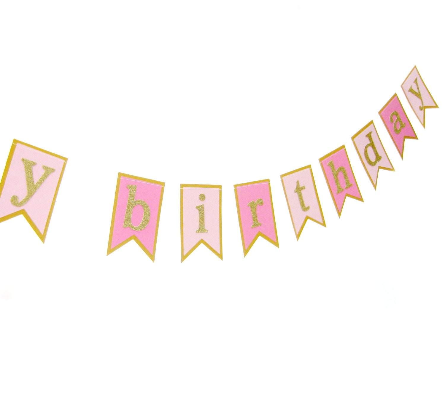 Happy Birthday Cake Bunting Pink