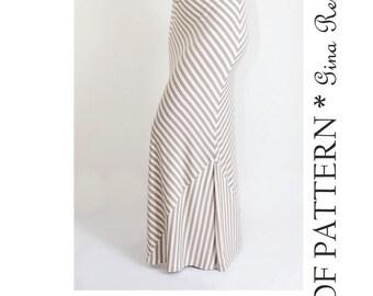 Maxi Skirt Pattern. Womens Skirt Sewing Pattern. Maxi Skirt Sewing Pattern.
