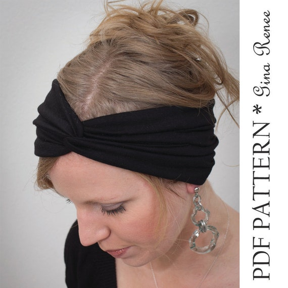 Twist Headband Sewing Pattern Ear Warmer Pattern Pdf Sewing