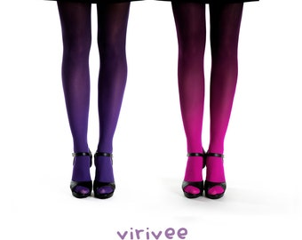2 ombre tights together