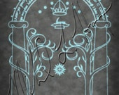Lord of the Rings Door to Moria Minimalist Print