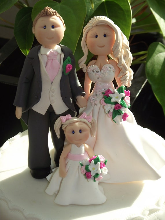 wedding cake toppers personalised uk items similar to personalised groom amp child wedding 26573