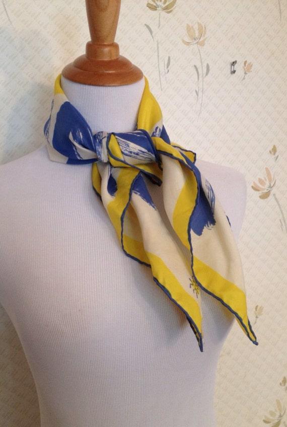 vera scarf with ladybug logo sunshine blue and by theaddict