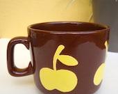 Mug XL cup Vintage Apple Brown Yellow Waechtersbach Spain