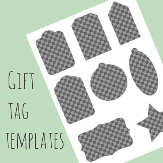Gift tag label templates variety of basic shapes do it gift tag label templates variety of basic shapes do it yourself gift tag labels instant download solutioingenieria Images