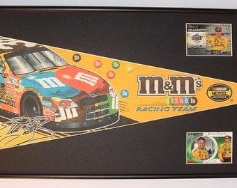 NASCAR driver #38, Elliot Sadler pennant & cards...Custom Framed!