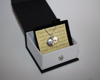 Mustard Seed Faith Necklace Jewelry, Faith Charm
