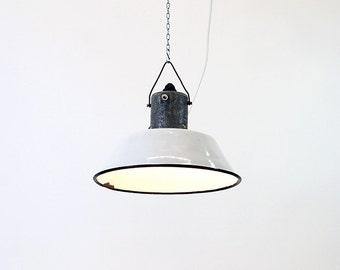 "vintage pendant industrial lamp :""Nurse""."