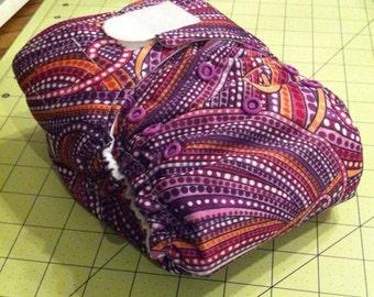 Sale! Medium One Size Diaper in Vegas Lights Print