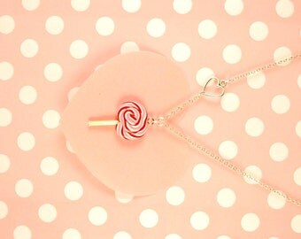 lollipop necklace - food jewelry