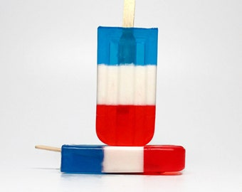 Red White and Blue Popsicle Soap