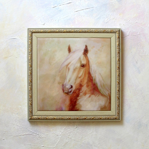 Horse painting horse wall art hand painted ceramic tile horse - Painting ceramic tile walls ...