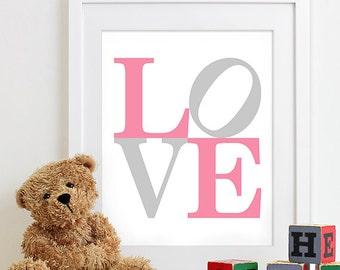 Baby Girl Nursery Decor Girls Nursery Art, Baby Girl Gifts, Birth Print Baby Name Art, Baby Nursery Decor, Nursery Quote Art