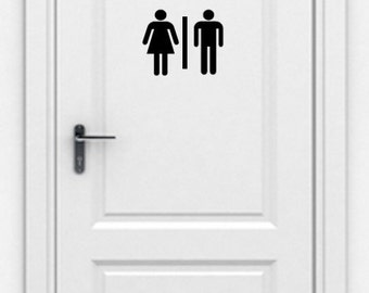 Restroom Sign Vinyl Adhesive Decal