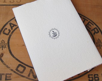 White Blank Handmade Fern Journal with Handmade Paper