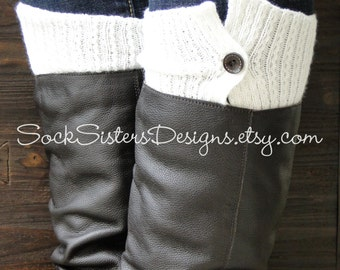 Button Down Boot Cuffs for Women - Boot sleeve