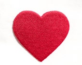 RED Heart / Iron-on Patches / Valentine's Day Embroidery / Love Appliqué