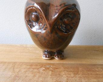 Vintage Brown Owl Bank