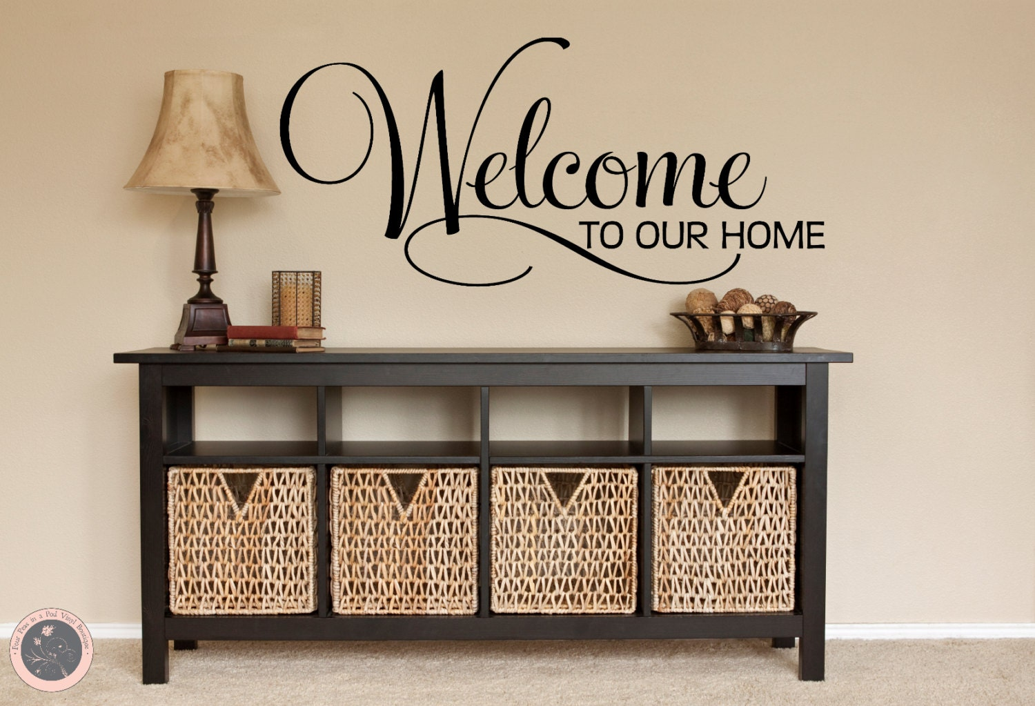 Welcome decal welcome sign family wall decal welcome home zoom amipublicfo Images