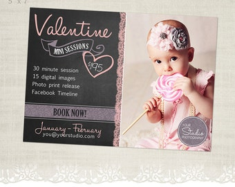 Valentine Mini Session Template for Photographers - MS14