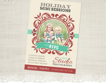 Holiday Mini Session Template for Photographers - MS08