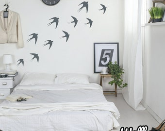 27 Swallow Wall Decals Flying Birds Wall Stickers Vinyl