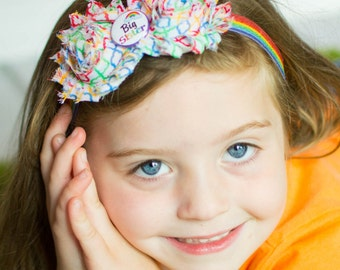 Big Sister Headband, Rainbow Sisters Headband, Pregnancy Announcement, Middle Sister, Little Sister, Little Girl Headband, Family Photos