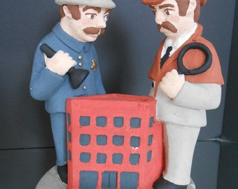 Vintage Detective Figurine - Pinkerton Cops