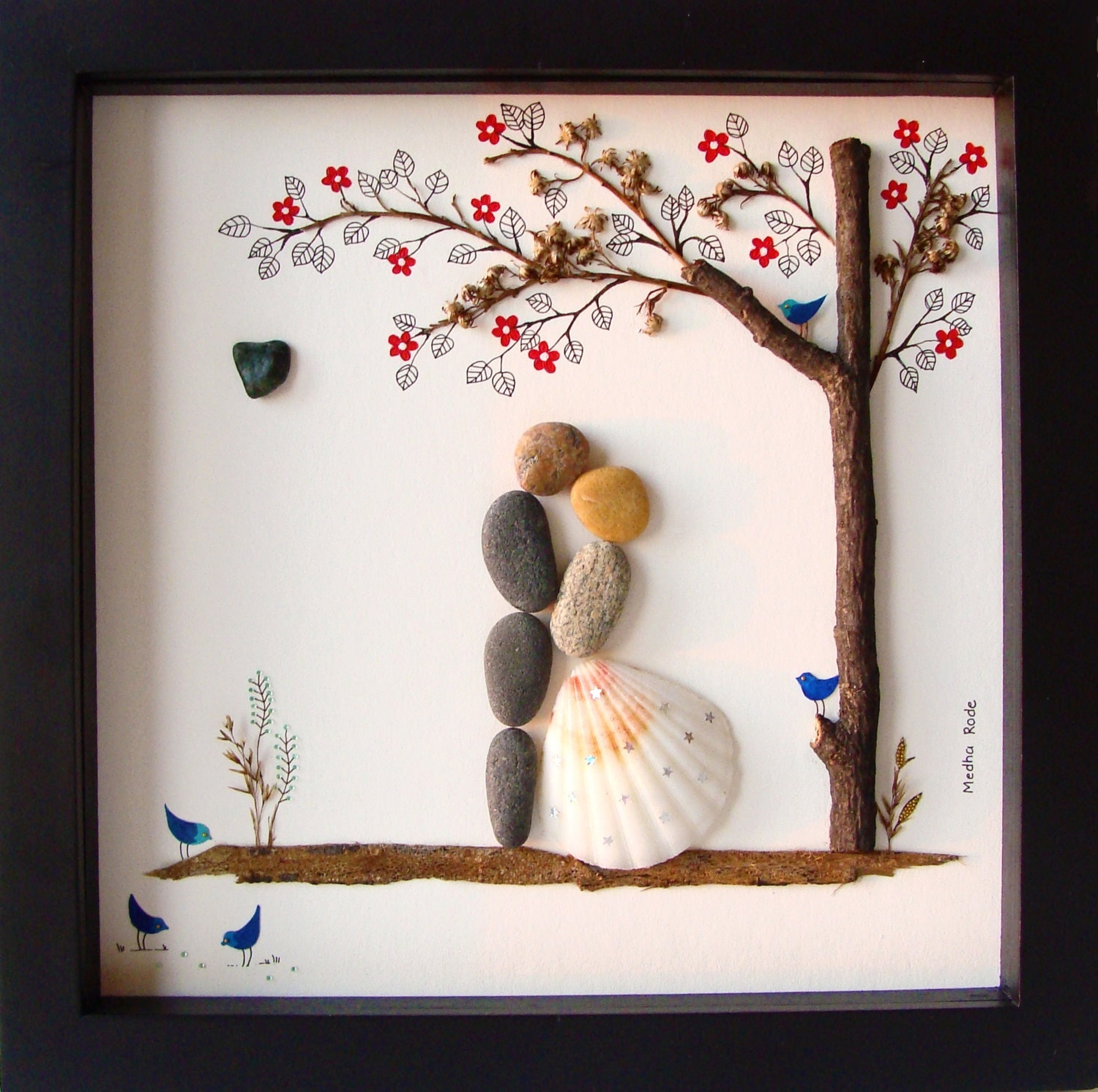 Unique WEDDING Gift-Customized Wedding Gift-Pebble Art-Unique