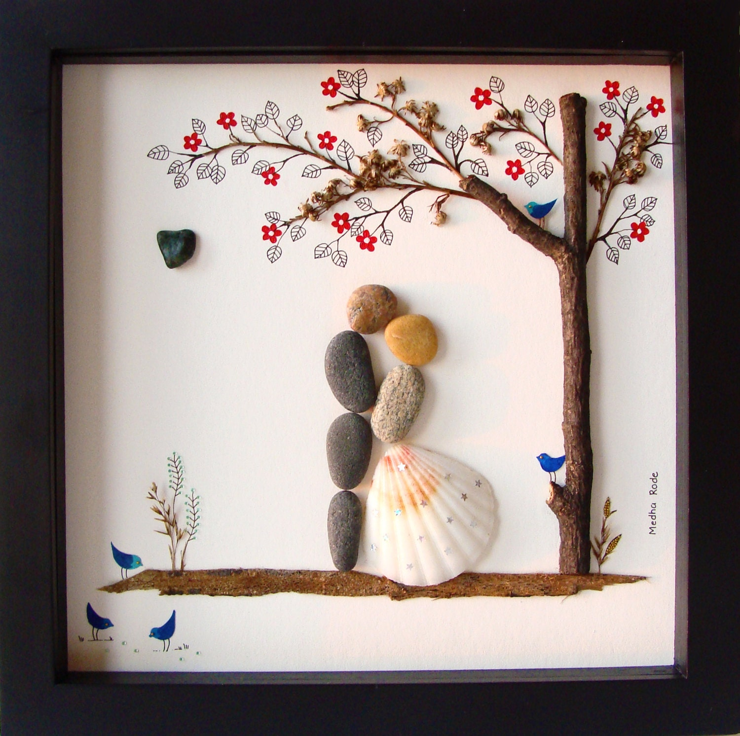 Unique Wedding Presents : Unique WEDDING Gift-Customized Wedding Gift-Pebble Art-Unique