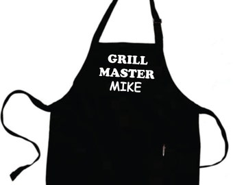 Personalized Grilling Apron Gifts For Dad Fathers Day Grilling Father Gift Personalized With  (Your NAME)  GRILL MASTER Apron