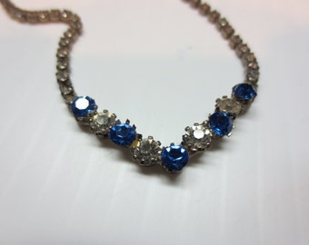 Beautiful Vintage Rhinestone Necklace A Sparkler