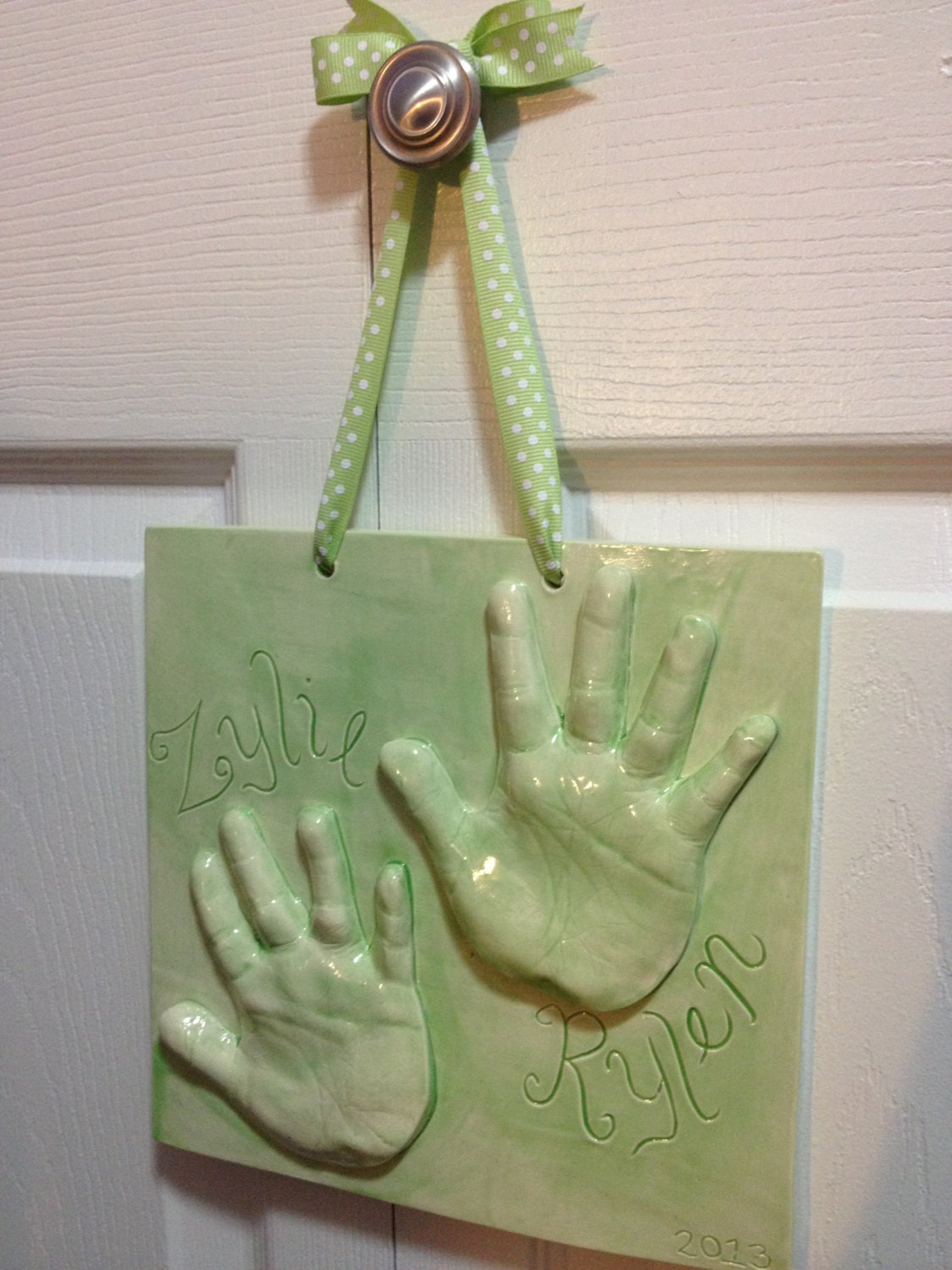Brother and Sister Handprint Keepsake