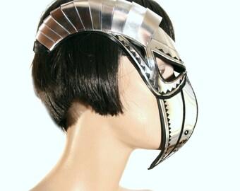 plague doctor mask with beak & horns masquerade steampunk mask