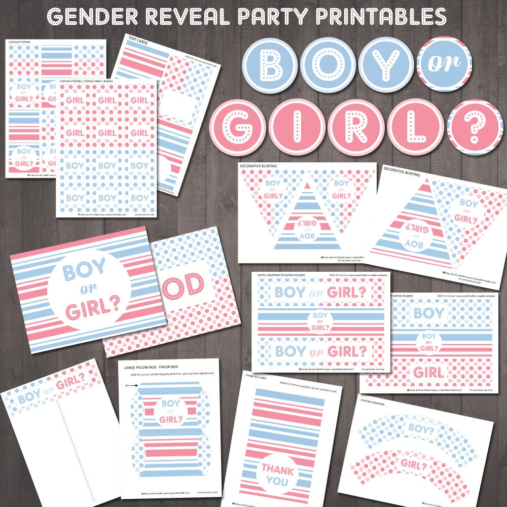 zoom - Free Printable Gender Reveal Party Invitations