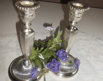 Vintage, Tarnish Resistant, Silver, Made In Japan, Candle Sticks, Candle Holders