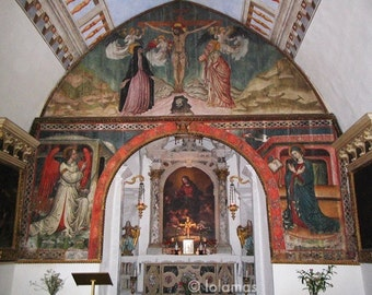 Religious Art, Church photo, Slovenia, Virgin Mary Church, Paintings of Church, Wall art, Travel photography