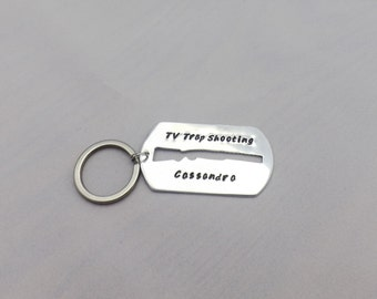 Personalized Trap Shooting Keychain
