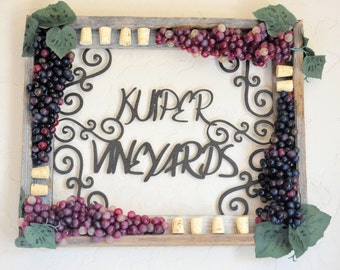 Personalized Vineyards Sign