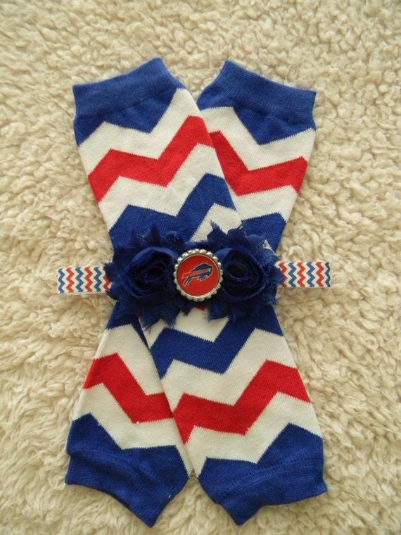 SET leg warmers headband Buffalo Bills inspired baby