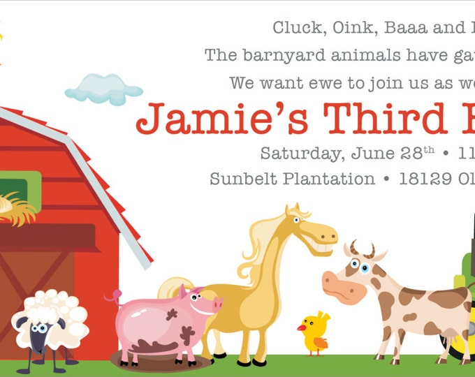 Fun on the Farm | Birthday Invitation