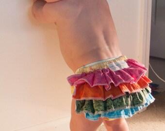 Summer diaper cover flowers 6-12 months