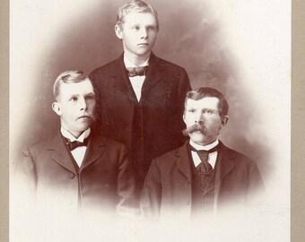 Antique Photo of 3 Gentlemen